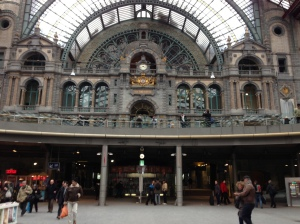 Another shot of Antwerp's train station